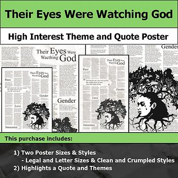 Their Eyes Were Watching God - Visual Theme and Quote Poster for Bulletin Boards