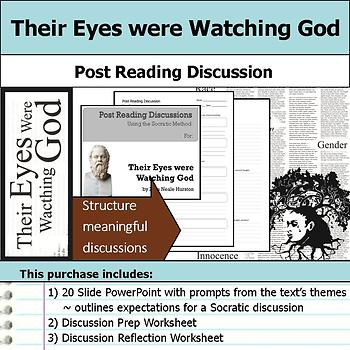 Their Eyes were Watching God - Socratic Method - Post Reading Discussions