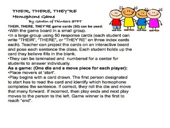 Their, There, They're Homophone Game