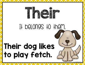 Their, There, They're, and To, Too, Two, Frequently Confused Words: Homophones
