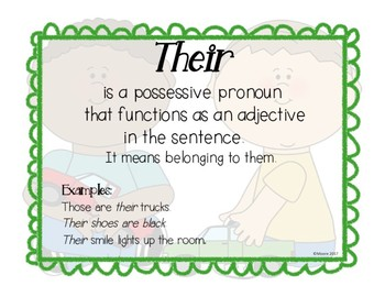 Homophones--Their, There & They're_CCSS L.4.1g.