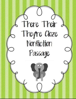 Their There They're Close Nonfiction Passage Freebie