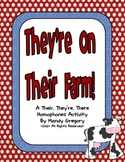 Homophones : Center with Their, There, and They're