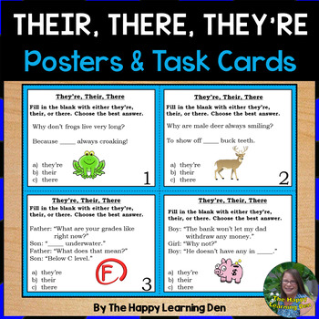 Their, There, and They're Posters and Task Cards