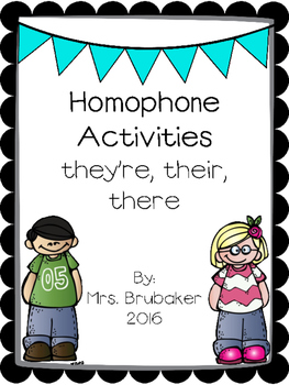 Their, They're, There Homophone Activities