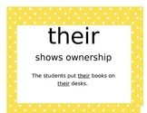 Their, They're, There Posters
