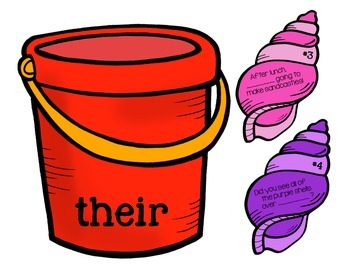 Homophones- Their, they're, and there Sentence Sort!