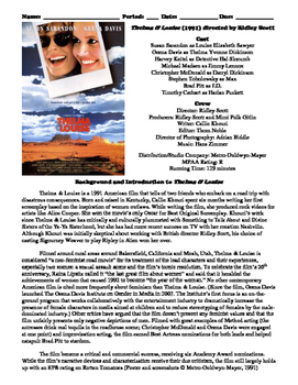 Thelma and Louise Film (1991) Study Guide Movie Packet