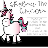 Thelma the Unicorn-Activities to use with the book-focusing on back to school!