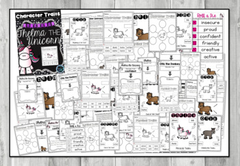 Thelma the Unicorn - Character Trait Activities