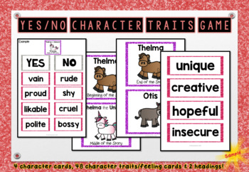 Thelma the Unicorn - Character Traits & Feelings Game