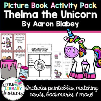 Thelma the Unicorn- Picture Book Activity Pack