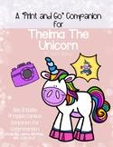 Thelma the Unicorn: Print and Go Speech/Language Companion