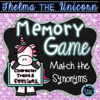 Thelma the Unicorn Activity | Character Traits and Feelings Game