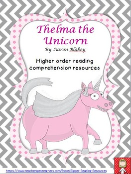 "Aaron Blabey - ""Thelma the Unicorn"" HOT reading resources"