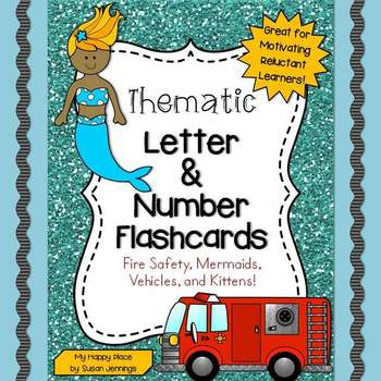 Thematic ABC & 123 - Flashcards: Fire Safety, Mermaids, Ve