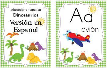 Thematic ABC: Dinosaur Spanish & English
