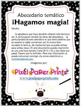 Thematic ABC: Let's do some magic! Spanish & English