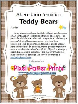 Thematic ABC: Teddy Bears Spanish & English