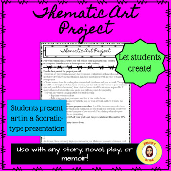 Thematic Art Project- For use with any story, novel, memoir, or play!