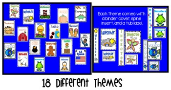Thematic Binder Covers, Tub Labels, and Spine Inserts