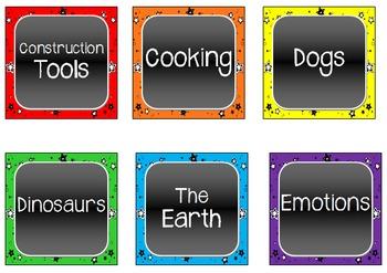 Thematic Book Labels - Multi-Color Stars