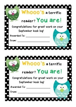 A Year's Worth of Thematic Book Logs With Matching Editable Certificates
