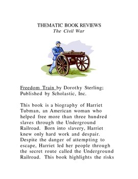 Thematic Book Reviews (Civil War)