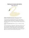 Thematic Book Reviews (Self-Esteem)