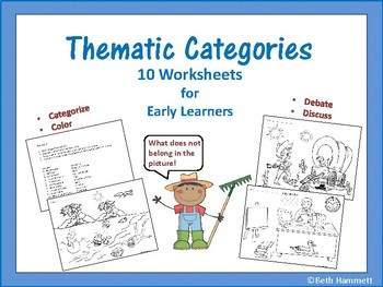 Thematic Categories: 10 Worksheets for Early Learners
