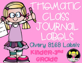 Thematic Class Journal Labels