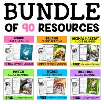 Thematic Close Reading Passages Mega Bundle