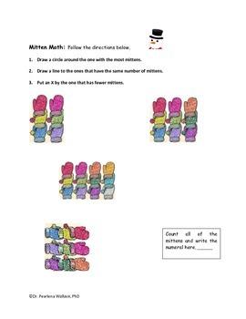 Winter Math & Literacy Activities Kindergarten & 1st Grade CCSS Aligned