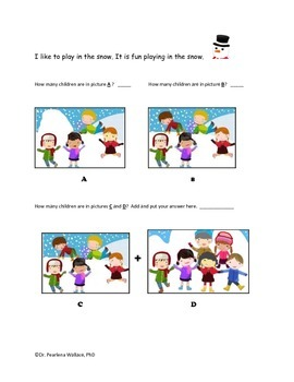 Kindergarten & First Grade Math: Winter Theme Worksheets & Activities