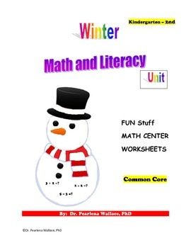 Winter Math & Literacy Activities Kindergarten & 1st Grade