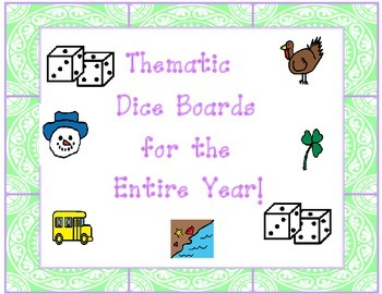 Seasonal Dice Board for the entire year!
