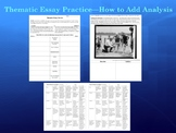Thematic Essay Practice—How to Add Analysis