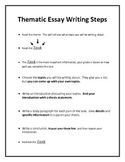 Thematic Essay Writing Steps