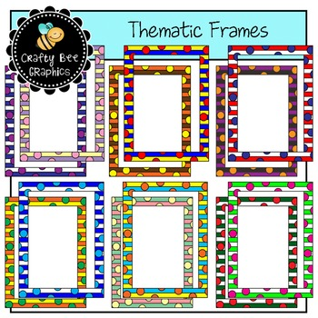 Thematic Frames Clip Art Set