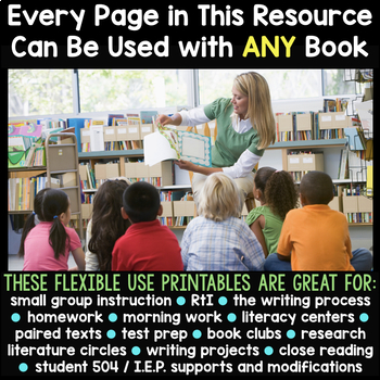 Thematic Graphic Organizers for Writing & Reading for an Entire Year