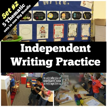 Thematic Independent Writing Practice BUNDLE Set 2