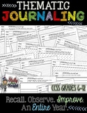 BELL RINGERS THEMATIC JOURNAL WRITING, RECALL, OBSERVE, FOR AN ENTIRE YEAR