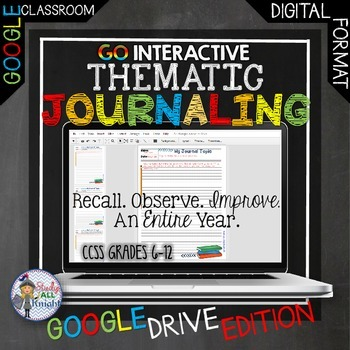 THEMATIC JOURNALING WRITING, OBSERVE, FOR AN ENTIRE YEAR G