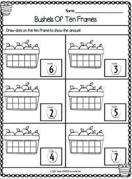 Thematic Kindergarten Math and Literacy Worksheets and Activities Bundle