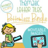 Thematic Letter Tiles Clip Art - BOTTOMLESS BUNDLE - MOVEABLE Clip Art