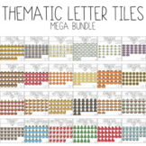Thematic Letter Tiles Mega Bundle (Moveable Clipart) by Bu