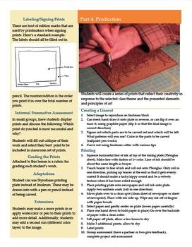 Thematic Linocuts (Linoleum Block Printmaking)