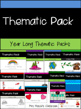 Thematic Literacy & Math Pack: Year Long Thematic Packs