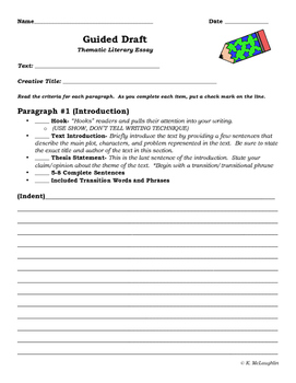 Thematic Literary Essay Guided Draft