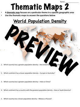 Thematic Map Worksheets 2